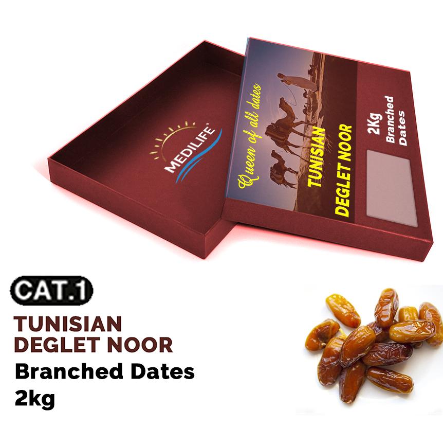 Dates Deglet Nour on Branch 2 kg