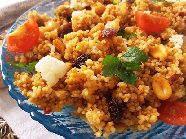 Moroccan Traditional Harissa Couscous Salad
